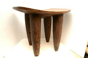 Large Senufo Wooden Stool Table Chair Hand Carved Tribal African Wood 25 Large
