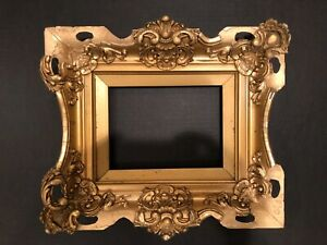 Antique 8x6 Victorian Gold Small Baroque Aesthetic Picture Frame 19e