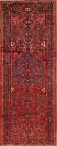 Vintage Tribal Hand Knotted Hamedan Persian Runner Rug 3x9