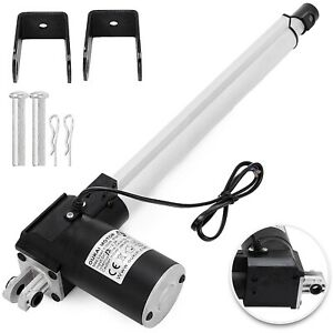 12 Inch Stroke Linear Actuator 6000n 1320lbs Pound Max Lift 12v Volt Dc Motor