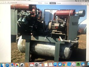 Saylor beall Air Compressor Industrial Twin 92524 Shipping Extra