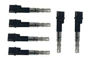 Set Of 6 Ignition Coils For Vw Golf And Jetta 2 8l V6 022905715c