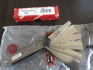 Thickness Feeler Gage By Starrett 66t W Locking Device Free Shipping