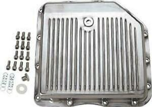 Transmission Pan Polished Aluminum Turbo 350 With Drain Plug Gasket And Bolts