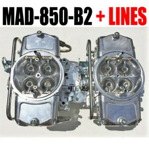 Demon Mad 850 b2 850 Cfm Gas Blower Supercharger Carbs With Fuel Lines With Hat