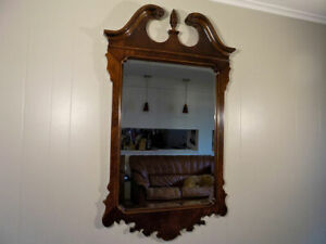 Drexel Heritage Hierlooms Flame Mahogany Wall Mirror Chippendale Style 55 5
