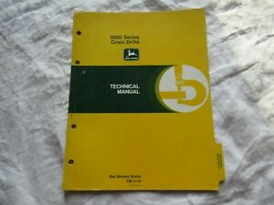 John Deere 9000 Series Grain Drills Repair Shop Service Technical Manual