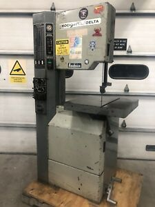 Rockwell 28 3x5 Variable Speed Vertical Bandsaw 20 With Blade Welder