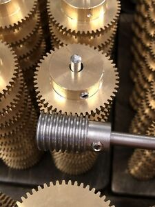 Matching Bronze Worm Gear Set 50 1 Ratio 32 Pitch 1 4 Bore From Boston Ma Look