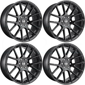 22x9 5 Dub Luxe S205 6x5 5 6x139 7 30 Gloss Black Wheels Rims Set 4