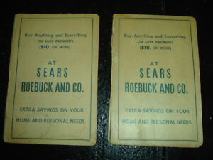 2 Old Ad Sears Roebuck Co Paper Needle Book Pack Pittsburgh Pa Always Near