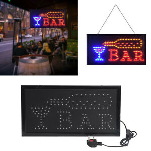 Super Bright Led Bar Sign Light Shop Club Board Window Display Neon Lamp