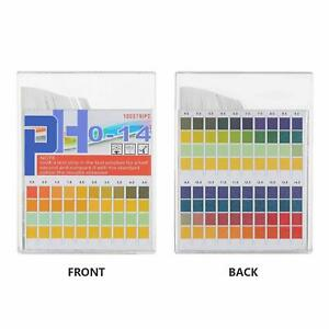 New 100pcs Ph Indicator 0 14 Test Strips Paper Water Litmus Tester Urine Saliva
