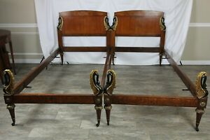 Exquisite Pair Of French Empire Twin Beds