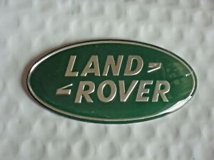 New Land Rover 105mm Green Oval Grille Tailgate Emblem Range Rover Free Ship