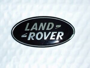 New Land Rover 105mm Black Oval Grille Tailgate Emblem Range Rover Free Ship