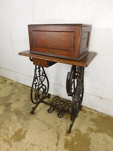 Antique Early Willcox Gibbs 1870s Treadle Bonnet Top Sewing Machine