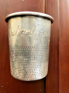Antique Towle Sterling Silver Just A Thimbleful Shot Glass Cup 2 93 Troy Oz