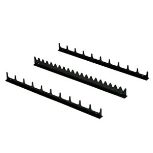Ernst 6011 3pc Screwdriver Rail Organizer holds Up To 20 Screwdrivers Black