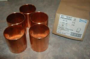 Nibco Coupling Dimple Stop Wrot Copper Pressure Fittings Box Of 5
