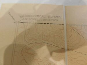Arizona Territory Map Geological Survey Marsh Pass 1906 Henry Gannett A 15736