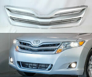 Silver Front Bumper Hood Replacement Grill For Toyota Venza 2013 2016