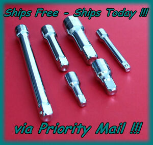 Craftsman 6 Piece Extension Bar Set 1 2 3 8 1 4 Drive Socket Adapter Ratchet