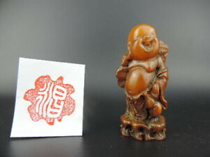 Hand Carved Chinese Shoushan Stone Seal Chop Stamp Seal Signet Figure Statue