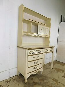 Princess 70s French Provincial Desk Vanity W Hutch Top Bookcase Sears Dixie Era