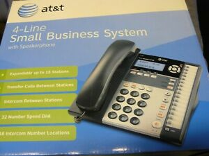 At t 1040 4 line Small Business Teleplone System Expandable Intercom Stations