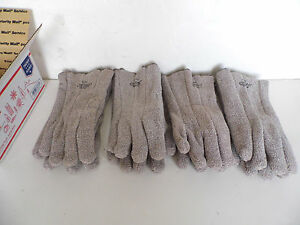 Lot Of 4 Pair Wells Lamont Jomac Heavy Terrycloth Heat resistant Gloves 305hrl