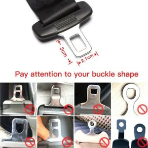 1x Universal Car Safety Seat Belt Buckle Extension Extender Clip Alarm Stopper