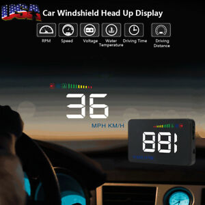 Obdii 3 5 A500 Car Hud Head Up Display Obd2 Hd Display Km H Speed Warning Alarm