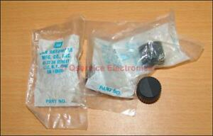 4 Pcs Lot Knob Black For Military Commercial Radio Or Test Equipment Nos Sealed