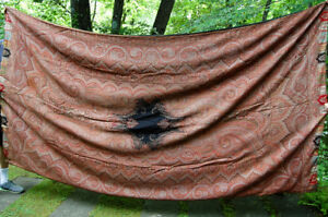 Antique Paisley Shawl Wool Kashmir Spread Throw Large 5 2 X9 8 60 X 116