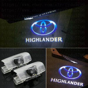 2x Car Door Light Ghost Projector Laser Logo Lamps For Toyota Highlander 2009 18