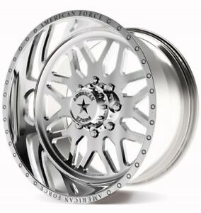 4 New American Force Trax Wheels 20x12 Offroad Ford Dodge Chevy Gmc Jeep