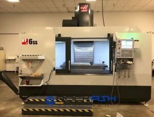 Haas Vf 6ss 12k Rpm 4th Drive Probes Travel 64x32x30 Excellent Condition