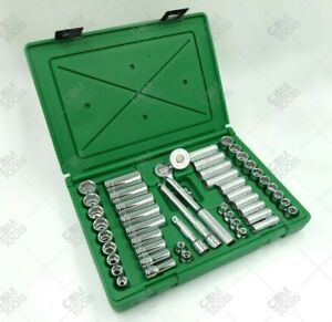Sk Hand Tools 94549 49pc 3 8 Dr 6pt Deep standard Metric fractional Socket Set