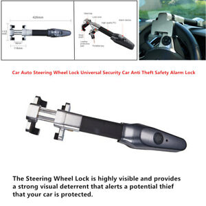 Car Steering Wheel Lock Universal Security Anti Theft Safety Alarm Lock Control