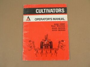 Allis Chalmers 6800 8000 Row Crop Rear Mounted Cultivators Owners Manual Vintage
