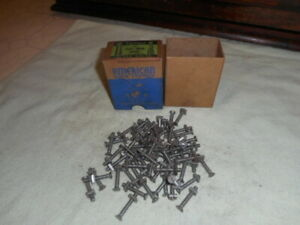 62 Vintage 3 16 X 1 1 4 Flat Head Slotted Steel Stove Bolts Nuts