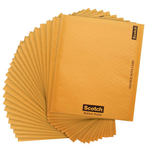 Scotch Bubble Mailer 8 5 X 11 inches Size 2 25 pack