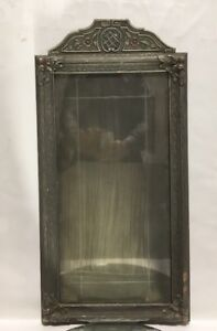 Vtg Art Deco Silvered Wood Victorian Picture Frame Art Studio W Grooved Glass