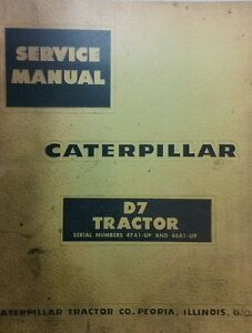 Caterpillar D7 Crawler Tractor Major Overhaul Service Manual 372pg 47a1