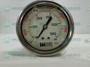 Weiss Instruments Ppg 048121 Pressure Gauge 0 4000 Kpa 0 5000 Psi new No Box