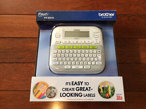 Brother Ptd210 P touch Easy Compact Label Maker White