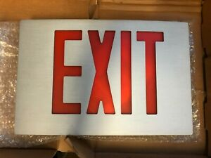 Tcp Diecast Red Led Exit Sign 26l90 Aluminum Housing