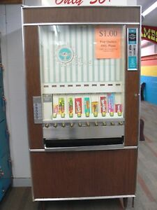 Good Working Antique vintage National Vendors Model Cm 72 Candy Vending Machine