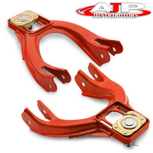 For 92 95 Honda Civic 93 97 Del Sol Racing Adjustable Front Camber Arm Kit Red
